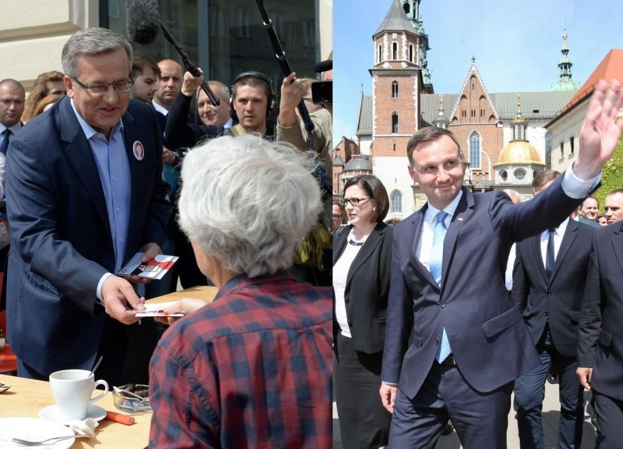 Bronisław Komorowski w Warszawie i Andrzej Duda w Krakowie