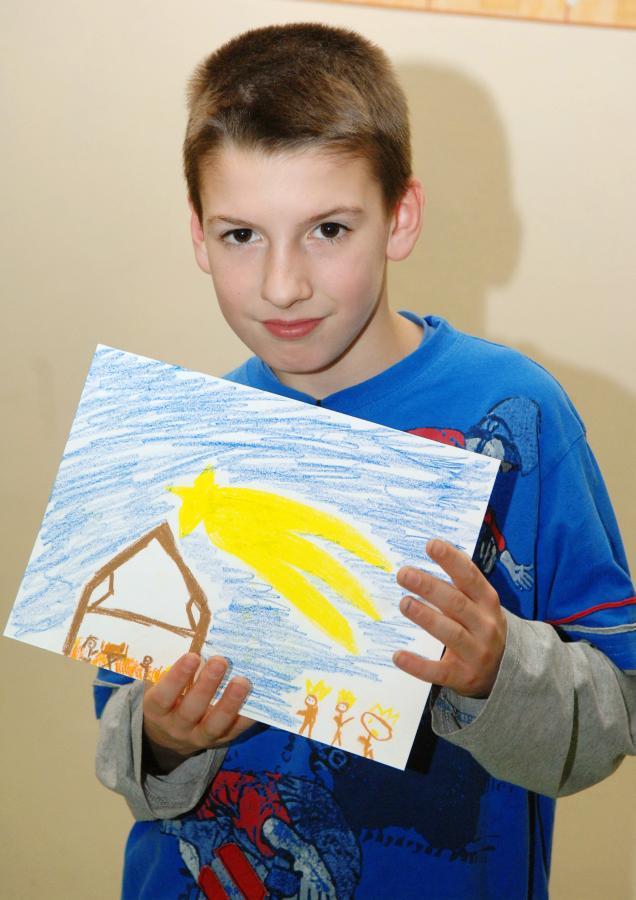 Kamil z domu dziecka nr 9 jest autorem rysunku, który znalazł się na okładce DZIENNIKA