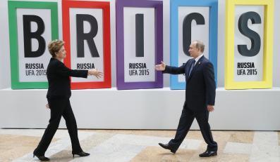 Prezydent Brazylii Dilma Rousseff i prezydent Rosji Władimir Putin