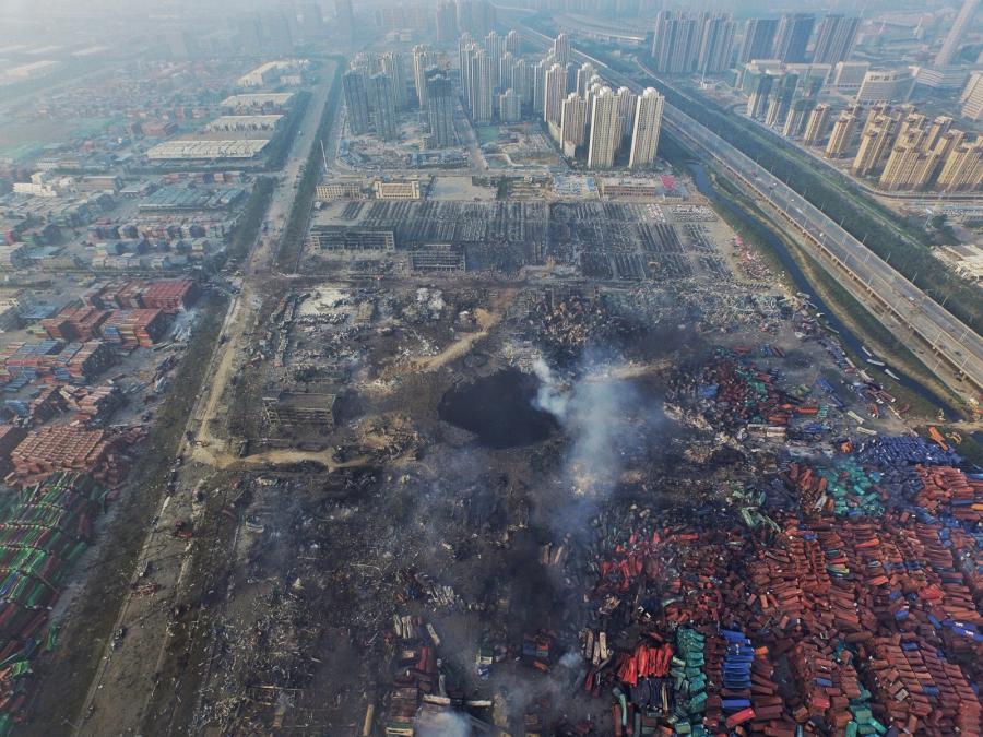 Rejon w którym doszło do wybuchu