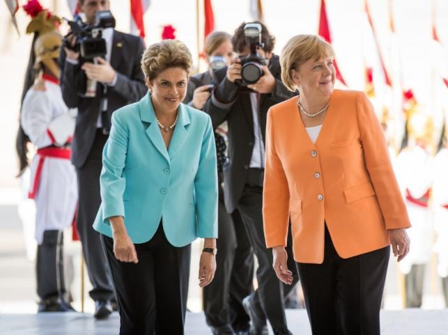 Dilma Rousseff i Angela Merkel