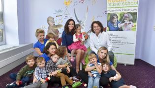 Piotr Rubik i Anna Wendzikowska w Rubik Music School