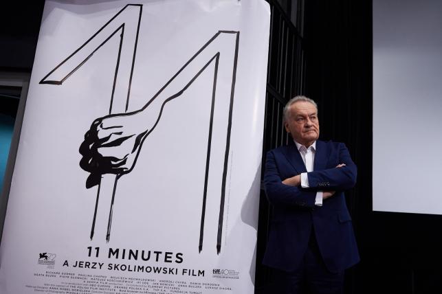 """Jerzy Skolimowski podczas spotkania z dziennikarzami po projekcji filmu """"11 minut"""""""