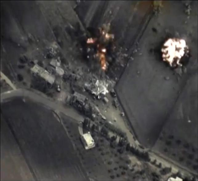 Rosyjskie naloty na Syrię. Zdjęcia udostępnione przez MON Rosji