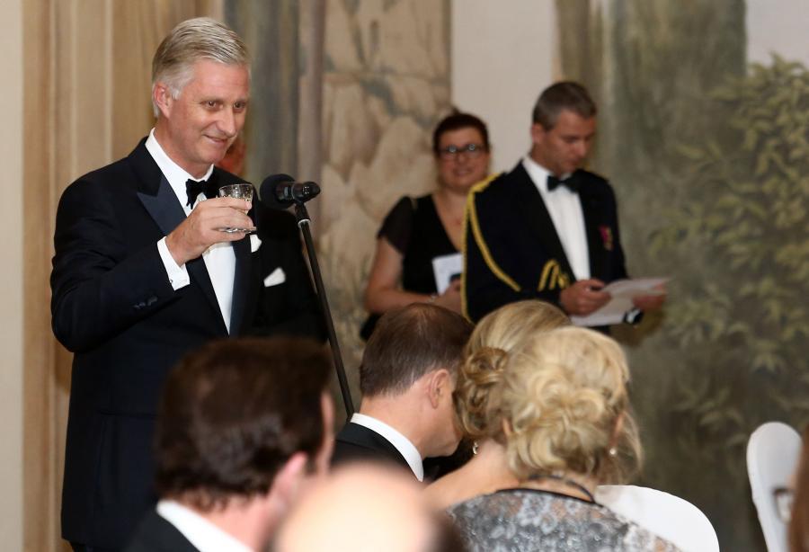Król Belgii, Filip podczas przyjecia wydanego przez prezydenta Andrzeja Dudę