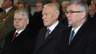 Bogdan Borusewicz;Kornel Morawiecki i Stanisław Karczewski