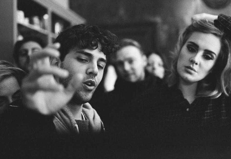 Adele i Xavier Dolan na planie klipu do piosenki \