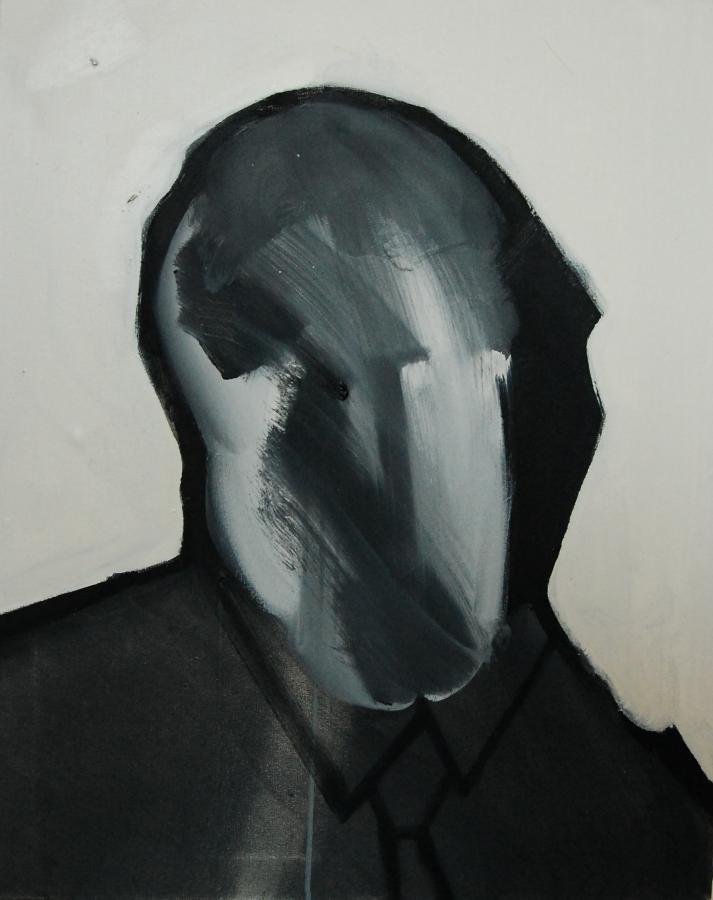 """""""Szkice do portretu 16"""", Cezary Bednarczyk, olej na płótnie, 50x40 cm"""