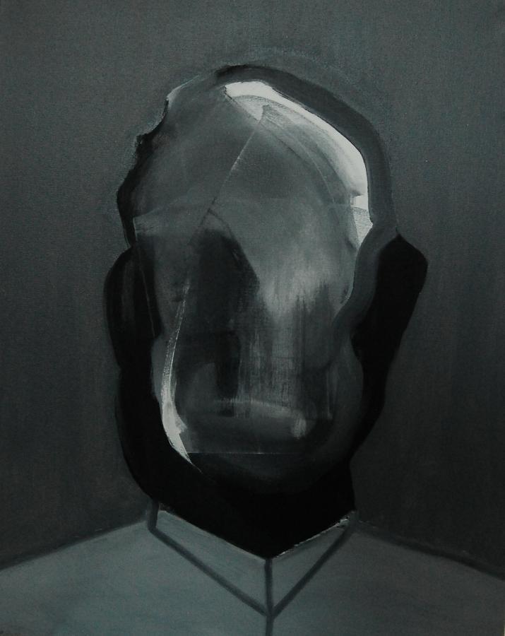 """""""Szkice do portretu 20"""", Cezary Bednarczyk, olej na płótnie, 50x40 cm"""