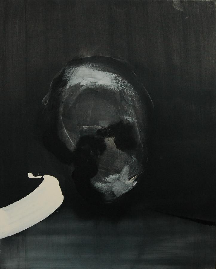 """""""Szkice do portretu 37"""", Cezary Bednarczyk, olej na płótnie, 50x40 cm"""