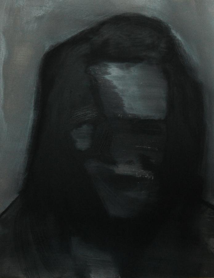 """""""Szkice do portretu 41"""", Cezary Bednarczyk, olej na płótnie, 50x40 cm"""