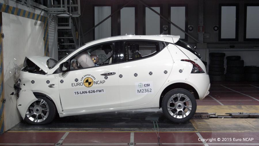 Lancia ypsilon - najsłabszy wynik 2015 wg Euro NCAP
