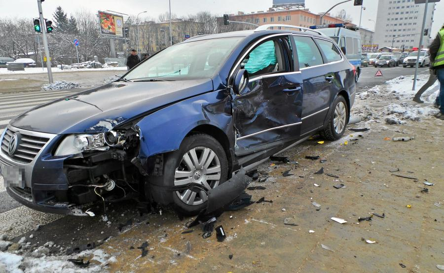 Volkswagen passat po wypadku