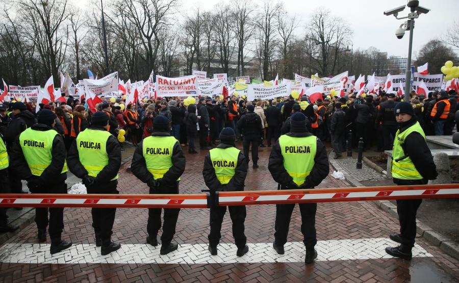 Protest handlowców