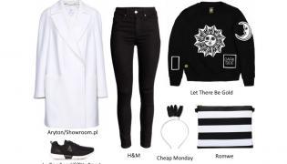 Czerń i biel - ponadczasowy duet w modnych stylizacjach