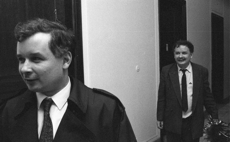 Jarosław Kaczyński i Lech Kaczyński w Sejmie w 1992 roku