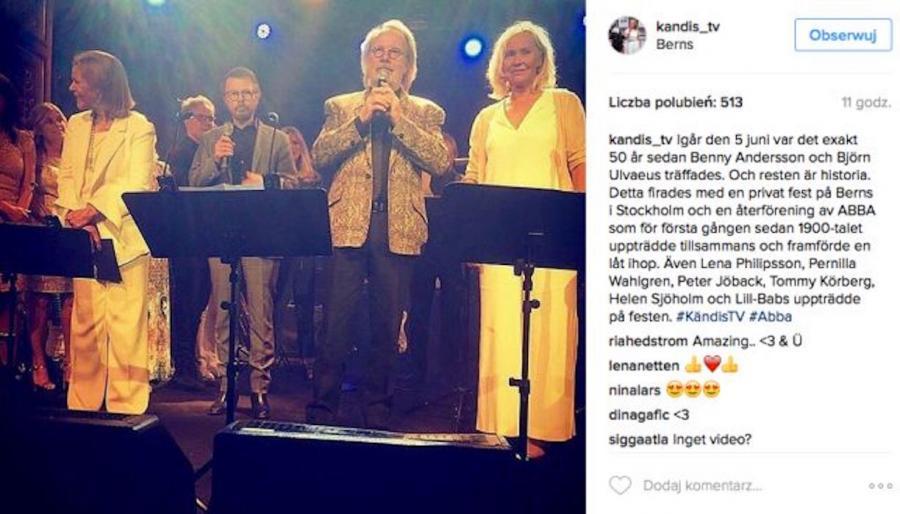 ABBA świętowała swoje 50-lecie