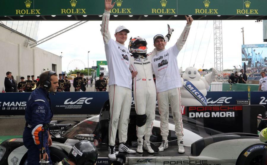 Zwycięski zespół Porsche