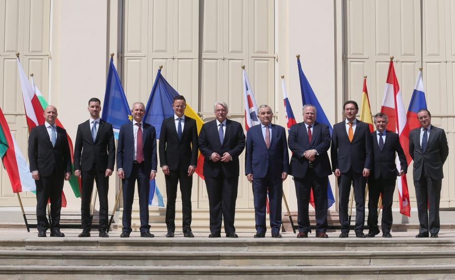 Warszawskie spotkanie ministrów spraw zagranicznych części państw Unii Europejskiej