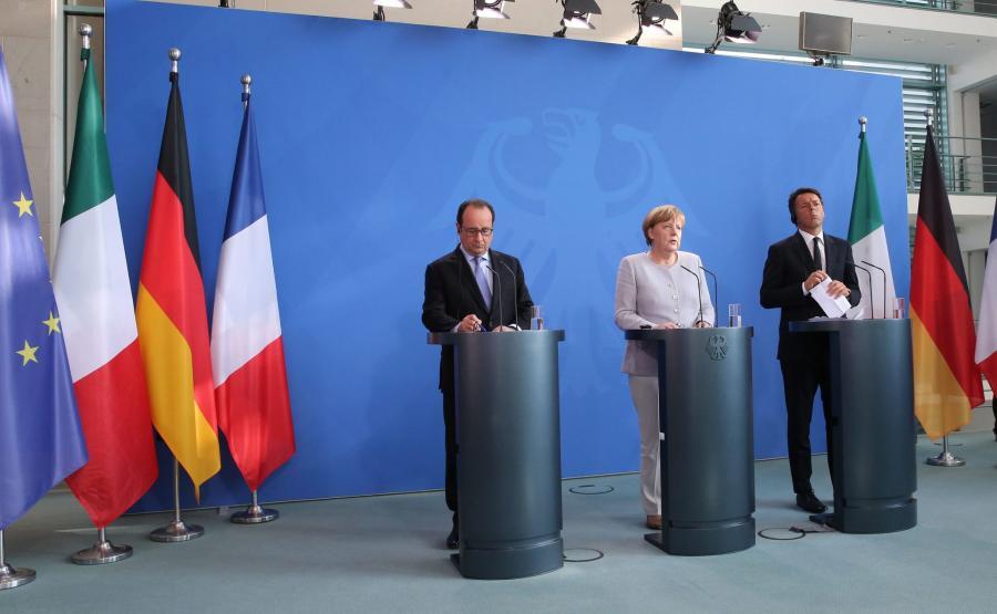 Angela Merkel, Matteo Renzi i Francois Hollande