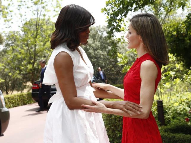 Michelle Obama i królowa Letizia