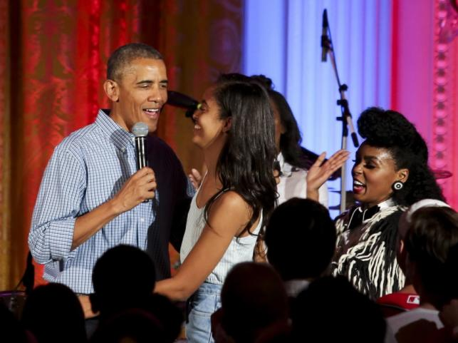 Barack Obama z córką Malią