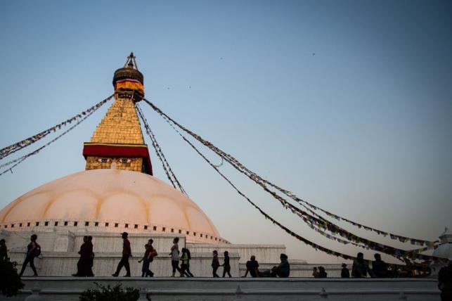 Stupa Bodnath, Katmandu, Nepal ; fot. T. Bogusz / Pirania na kolację