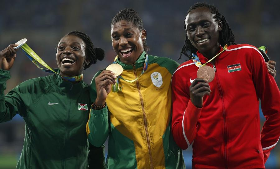 Medalistki biegu na 800 m