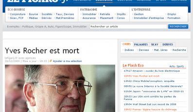 Yves Rocher nie żyje