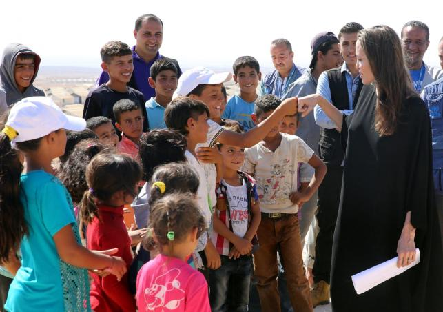 Angelina Jolie odwiedziła obóz dla syryjskich uchodźców w Jordanii