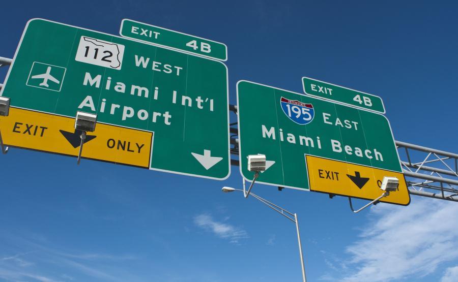 Drogowskazy na lotnisko w Miami