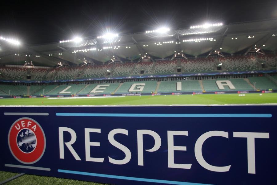 Puste trybuny stadionu Legii Warszawa