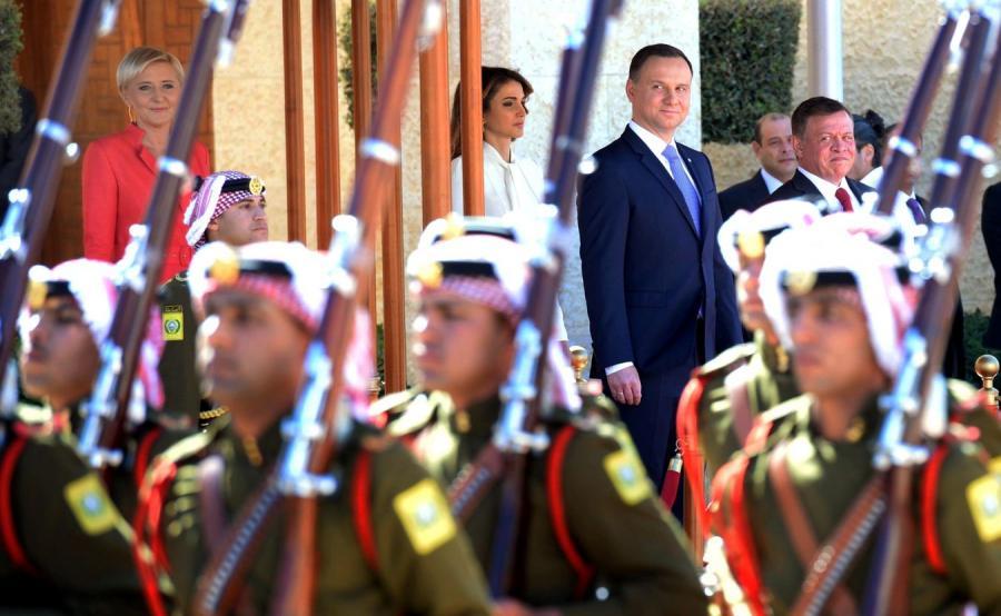 Prezydencka para w Jordanii