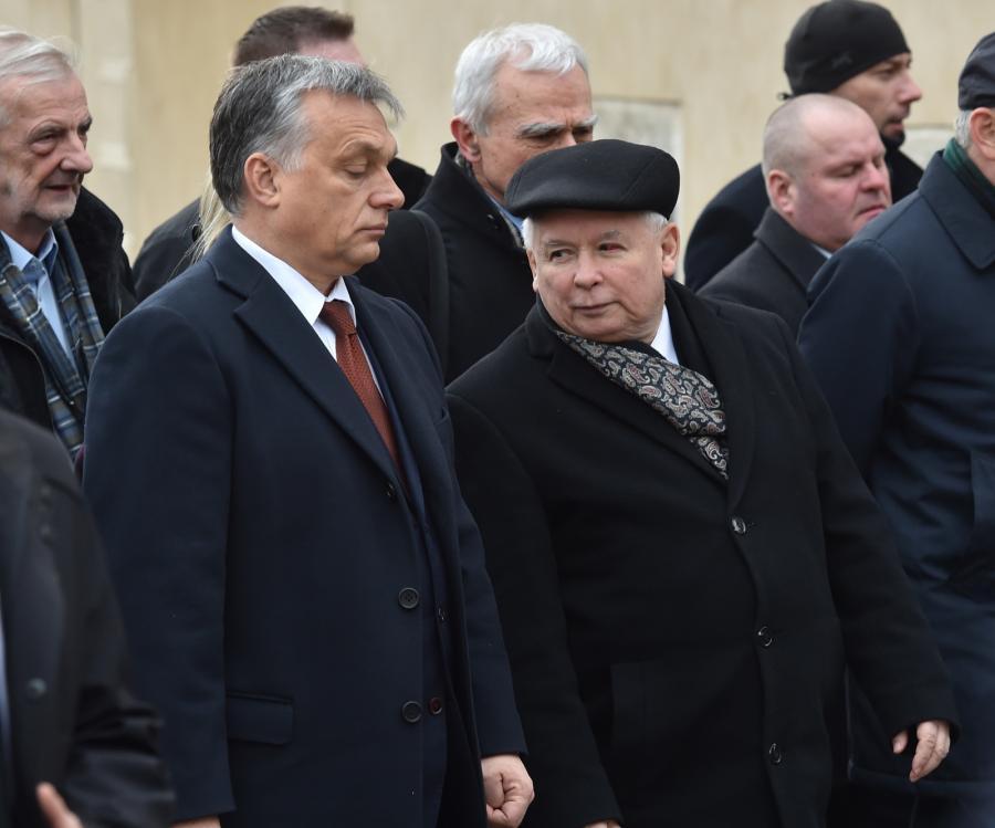 Premier Węgier Viktor Orban i prezes PiS Jarosław Kaczyński