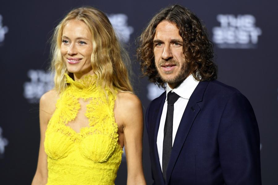 Carles Puyol i jego żona, Vanessa Lorenzo