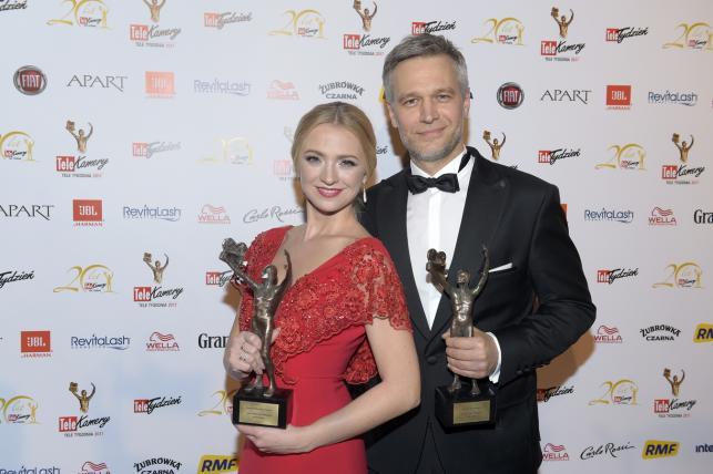 Telekamery 2017: Michał Żebrowski i Barbara Kurdej-Szatan