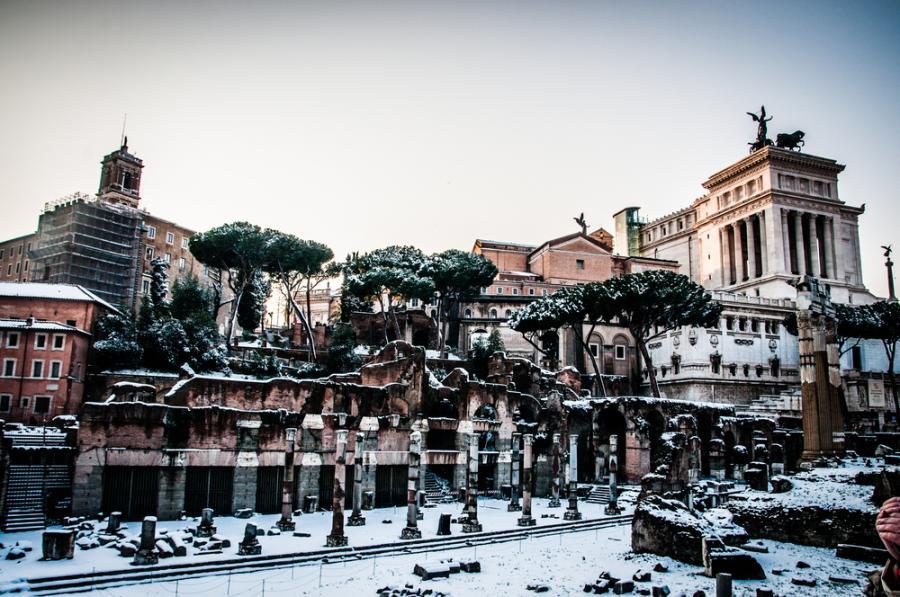 Rzym zimą
