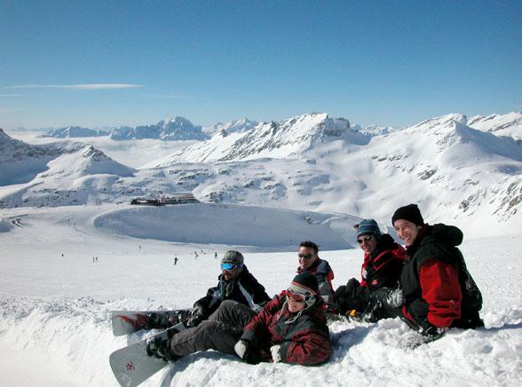 Najnowszy trend puchowy na lodowcu Mölltal