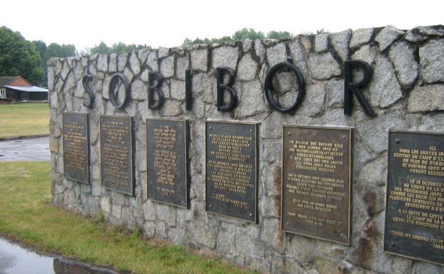 Obóz zagłady w Sobiborze. Pomnik na terenie byłego niemieckiego obozu zagłady