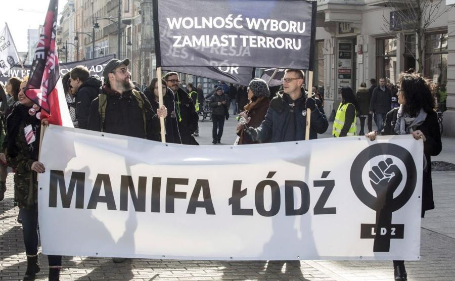 Manifa w Łodzi