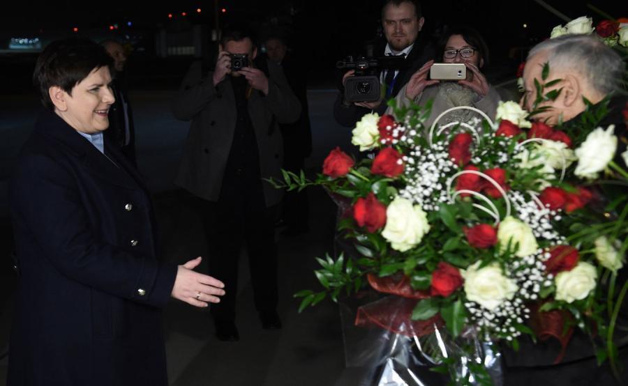 Beata Szydło po powrocie z Brukseli